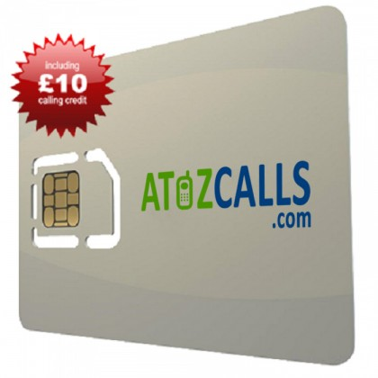 SIM Card with £10 Calling Credit